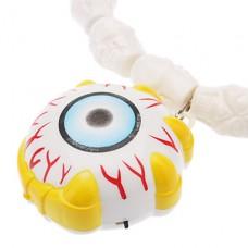 Глазное яблоко ожерелье типа со светодиодной для Хэллоуина