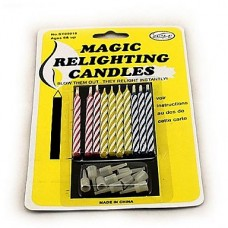 10PCS смешанного цвета Магия Relighting Свечи Практические гаджеты шутки