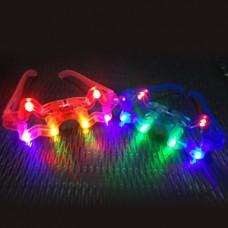Блестящий светодиодные очки ночного рынка игрушек (случайный цвет)