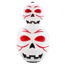 Halloween Череп Стиль фонарь с красными и синими Светодиодный проблесковый маячок и звуковой эффект (3xAG13)