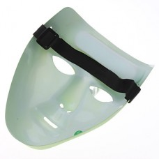 Стильные серебристые маски (зеленый)