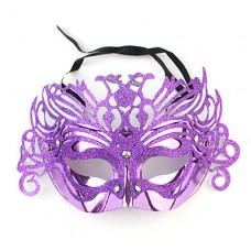 горячей Mardi Gras танца бал-маскарад аппликация маска (случайный корабль)
