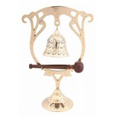 Гонг полированный колокол на подставке