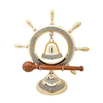 Латунный колокол-гонг на штурвале