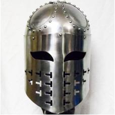 Spangenhelm, каркасный рыцарский шлем