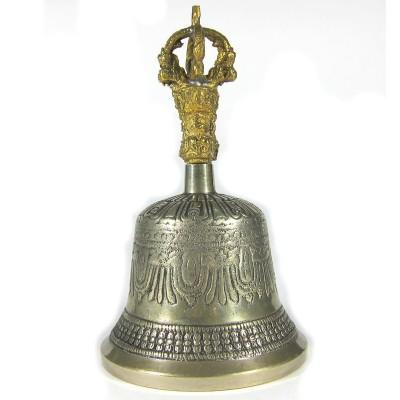 Колокольчик бронзовый 17х9см