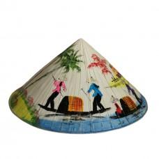 Вьетнамская шляпа нон, раскрашенная