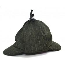 Шапка Шерлока Холмса, Шляпа охотника на оленей. Темно- зеленая