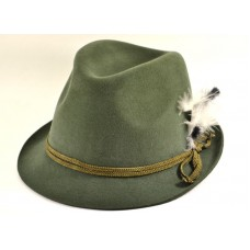 Шляпа тирольская, охотничья, баварская из фетра, зеленая
