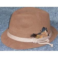 Шляпа охотничья, баварская из фетра, коричневая