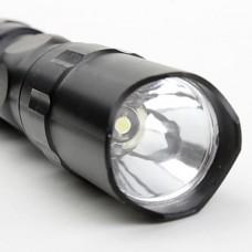 1 мини-режиме алюминиевого сплава светодиодный фонарик (1xAA, коричневый)