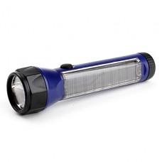 1-режим 6-светодиодный фонарик (солнечных батарей, синий)