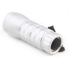 1 мини-режим 19-светодиодный фонарик (60lm, 3x10440, серебро)