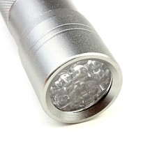 1-режим 12-светодиодный фонарик (3x10440, серебро)