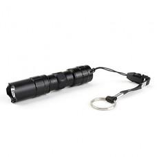 1 мини-режиме светодиодный фонарик (1xAA, черный)