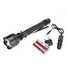 1-Mode Cree XR-E Q5 светодиодный фонарик набор (200LM, 2x18650, черный)
