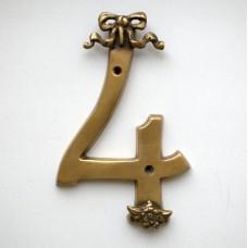 Бронзовая цифра четыре