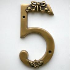 Бронзовая цифра пять
