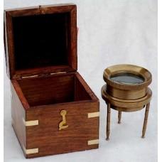 Лупа для карт в деревянном футляре