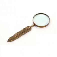 Лупа бронзовая с ручкой в виде пера