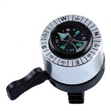 2-в-1 металлический велосипед колокол с компасом (серебро)