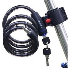 Тип ключа для стальных тросов безопасности велосипедов блокировки Set - черный (120 см, 533)