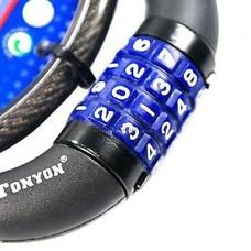 Самовосстанавливающиеся безопасности Anti-Theft стали велосипедов блокировки паролем - черный (80 см длина, 4271)