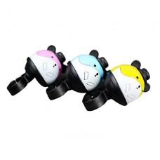 Hamster мультяшном стиле алюминиевый Al велосипедов Белл (желтый / голубой / розовый)